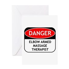 Elbow Armed Massage Therapist Greeting Card