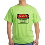 Elbow Armed Massage Therapist Green T-Shirt