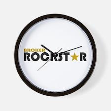 Broker Rockstar 2 Wall Clock