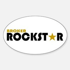 Broker Rockstar 2 Oval Decal