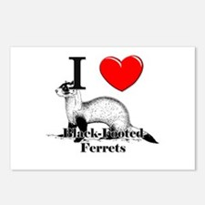 I Love Black-Footed Ferrets Postcards (Package of