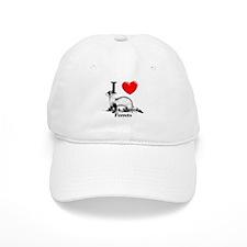 I Love Black-Footed Ferrets Baseball Cap