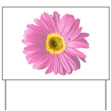Pop Art Pink Daisy Yard Sign