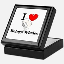 I Love Beluga Whales Keepsake Box