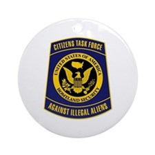 Citizens Task Force Patch Ornament (Round)