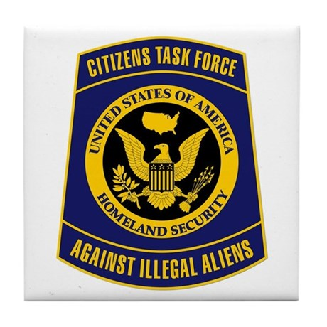 Citizens Task Force Patch Tile Coaster