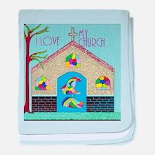 ASL I Love my Church baby blanket