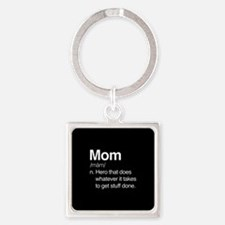 Mom Hero Square Keychain