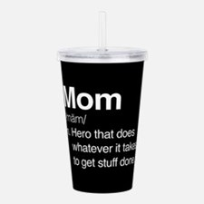 Mom Hero Acrylic Double-wall Tumbler