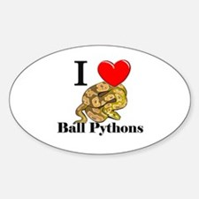 I Love Ball Pythons Oval Decal