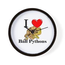 I Love Ball Pythons Wall Clock
