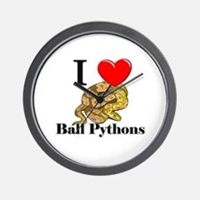 I Love Ball Pythons Wall Clock