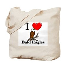 I Love Bald Eagles Tote Bag