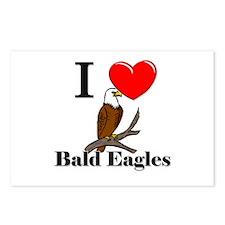 I Love Bald Eagles Postcards (Package of 8)