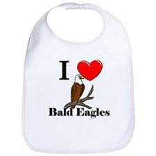 I Love Bald Eagles Bib