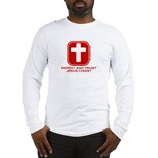 Repent And Trust (with Cross) Long Sleeve T-Shirt