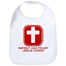 Repent And Trust (with Cross) Bib