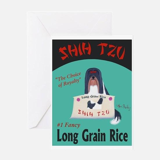 Shih Tzu Long Grain Rice Greeting Card