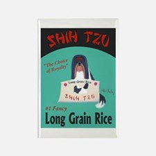 Shih Tzu Long Grain Rice Rectangle Magnet
