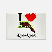 I Love Aye-Ayes Rectangle Magnet