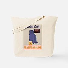 Blue Cat Marmalade Tote Bag