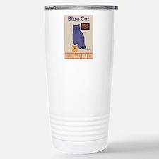 Blue Cat Marmalade Stainless Steel Travel Mug