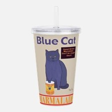 Blue Cat Marmalade Acrylic Double-wall Tumbler