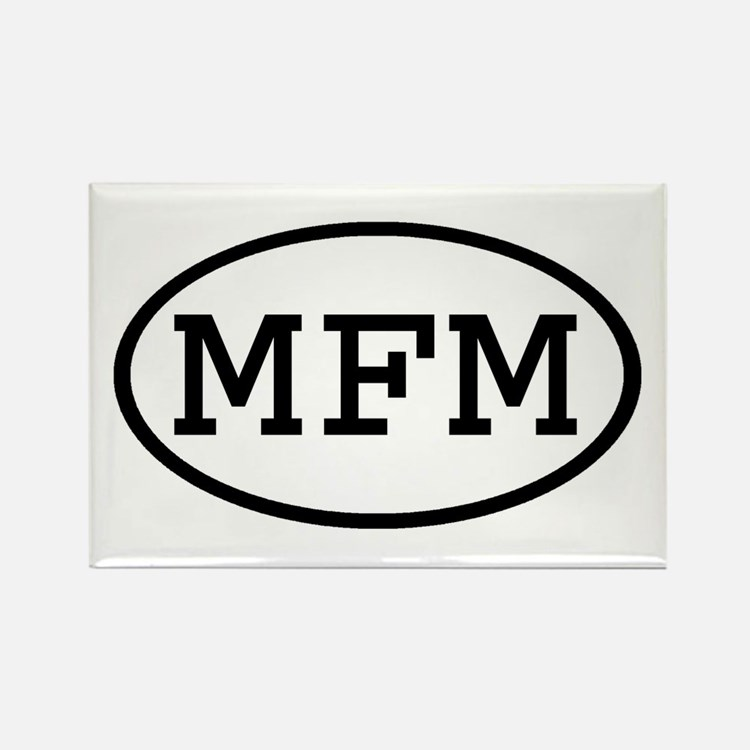 MFM Oval Rectangle Magnet
