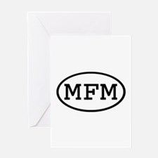 MFM Oval Greeting Card