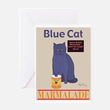 Blue Cat Marmalade Greeting Card