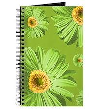 Pop Art Green Daisy Journal