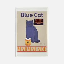 Blue Cat Marmalade Rectangle Magnet