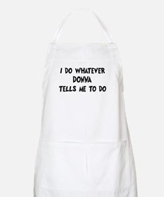 Whatever Donna says BBQ Apron