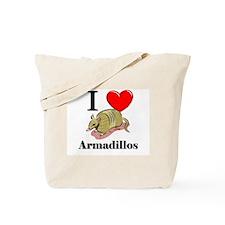 I Love Armadillos Tote Bag