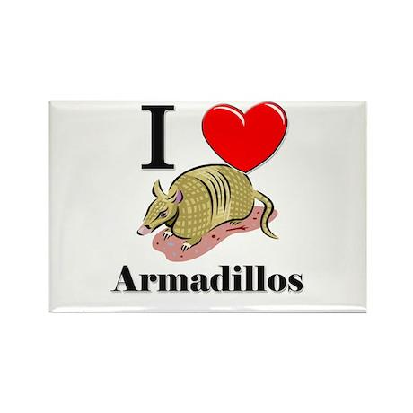 I Love Armadillos Rectangle Magnet