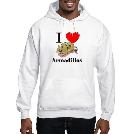 I Love Armadillos Hooded Sweatshirt
