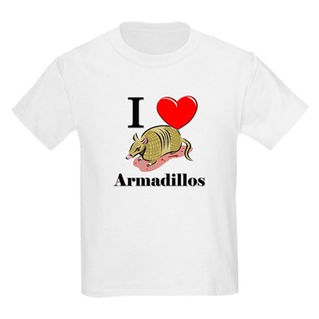 I Love Armadillos Kids Light T-Shirt