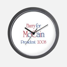 Barry for McCain 2008 Wall Clock