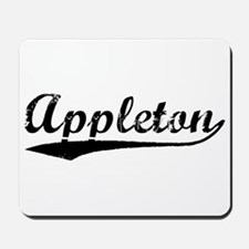Vintage Appleton (Black) Mousepad
