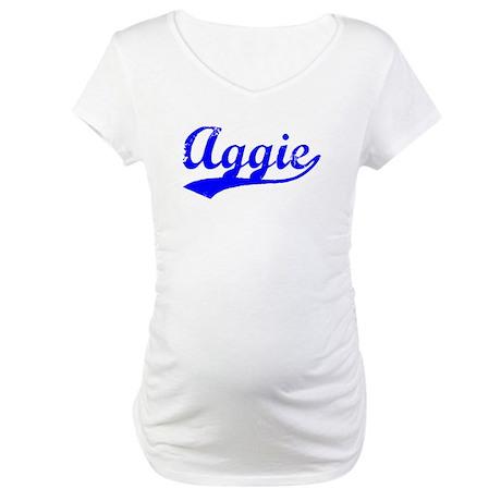 Vintage Aggie (Blue) Maternity T-Shirt
