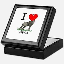 I Love Apes Keepsake Box