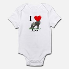 I Love Apes Infant Bodysuit