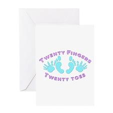 Twenty Fingers & Toes Greeting Card