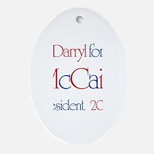 Darryl for McCain 2008 Oval Ornament