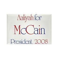 McCain for President - Aaliya Rectangle Magnet