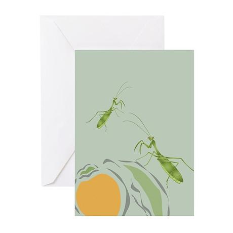 Praying Mantis Persimmon Greeting Cards (Package o