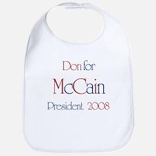 Don for McCain 2008 Bib