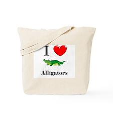 I Love Alligators Tote Bag