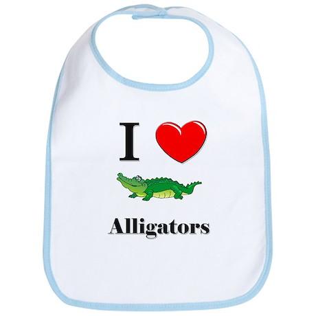 I Love Alligators Bib