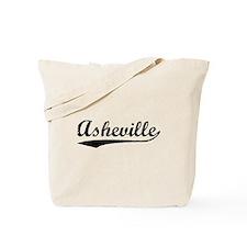 Vintage Asheville (Black) Tote Bag